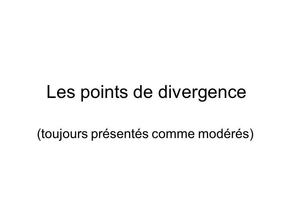 Les points de divergence