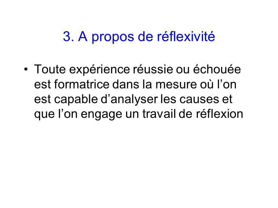 3. A propos de réflexivité
