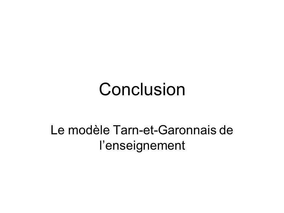 Le modèle Tarn-et-Garonnais de l'enseignement
