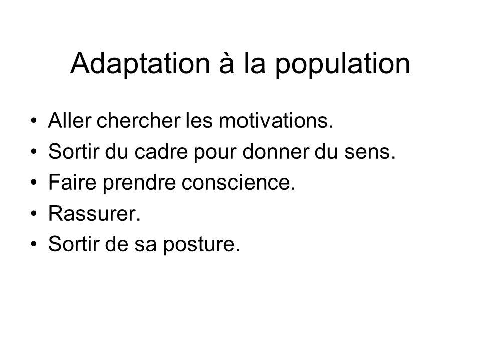 Adaptation à la population
