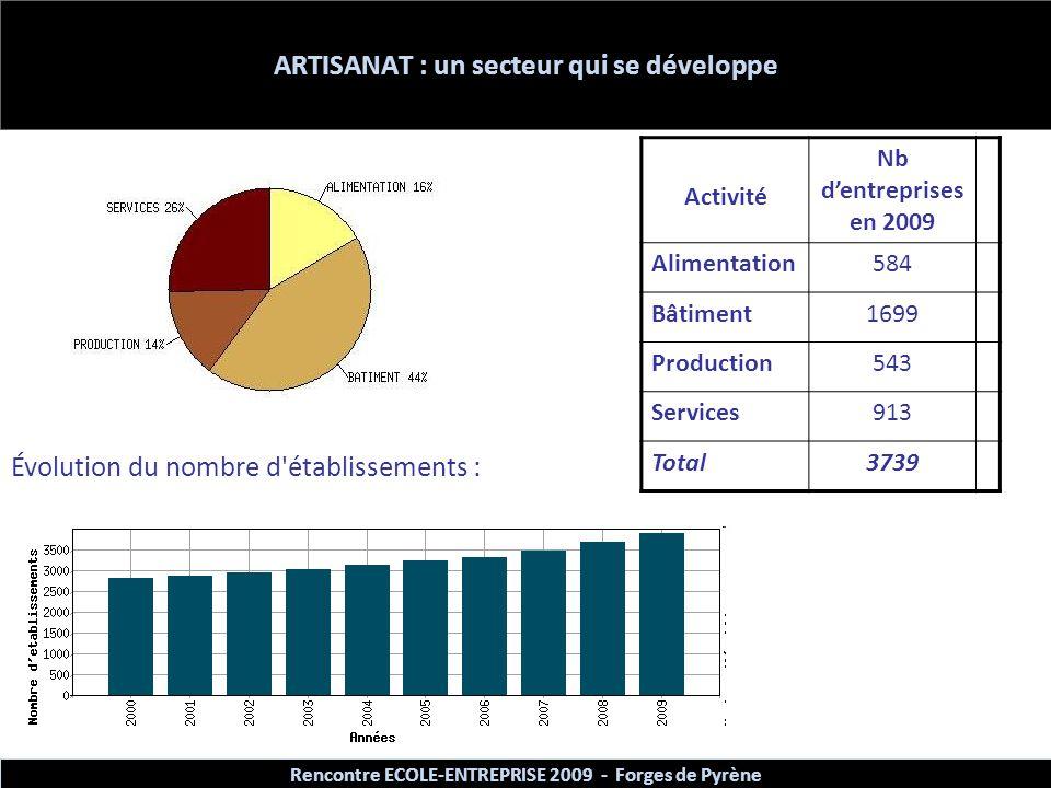 ARTISANAT : un secteur qui se développe