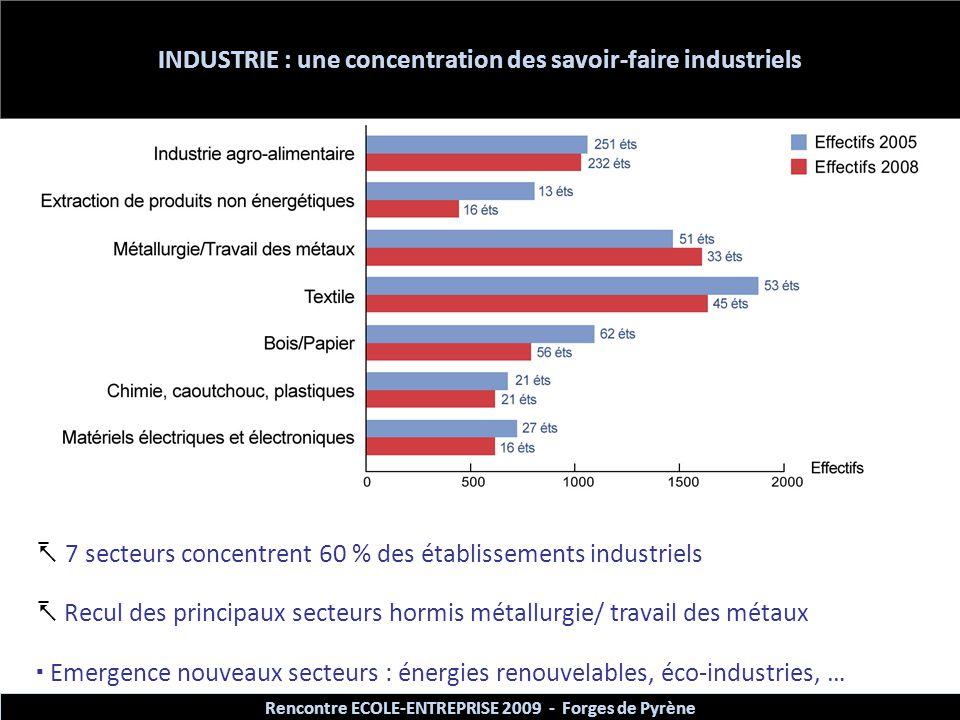 INDUSTRIE : une concentration des savoir-faire industriels