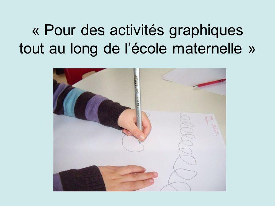 « Pour des activités graphiques tout au long de l'école maternelle »
