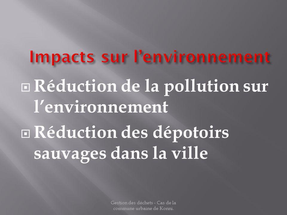 Impacts sur l'environnement