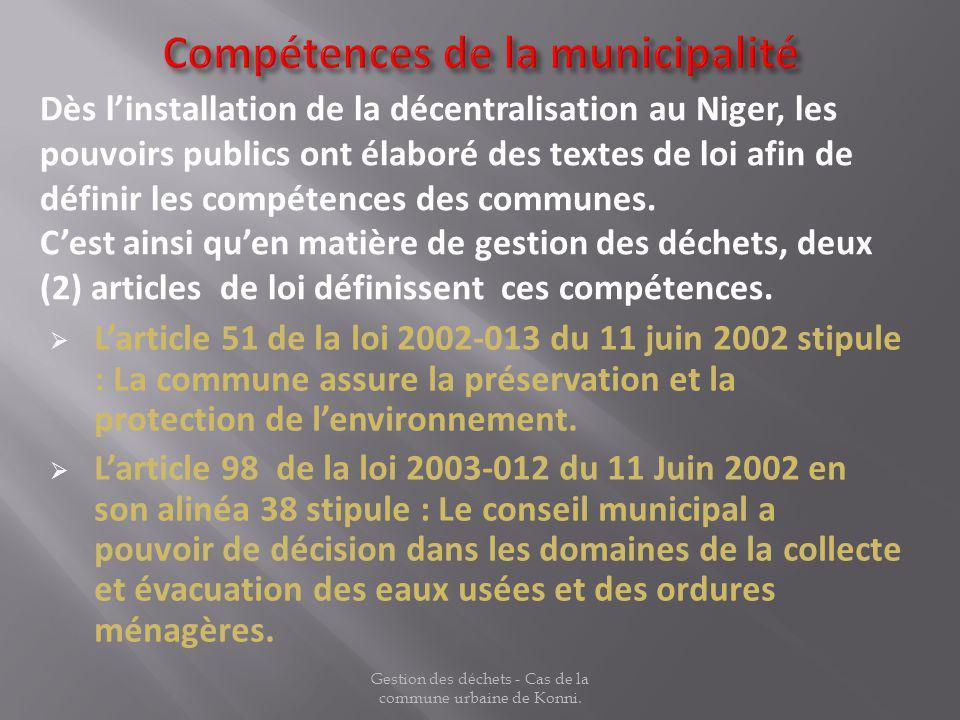 Compétences de la municipalité