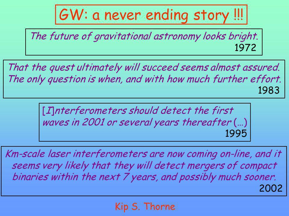 GW: a never ending story !!!