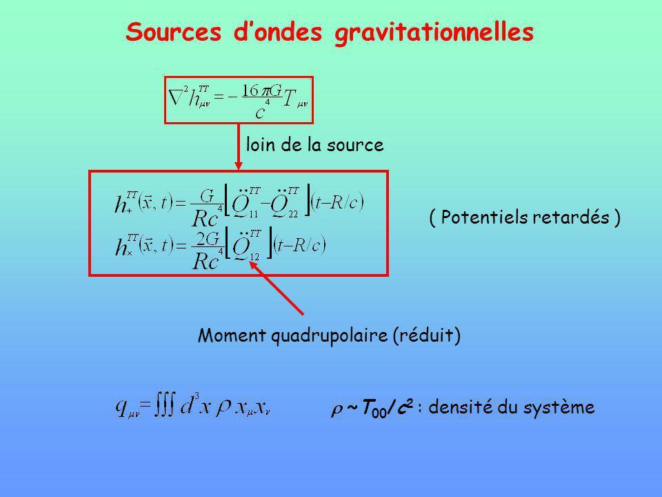 Sources d'ondes gravitationnelles