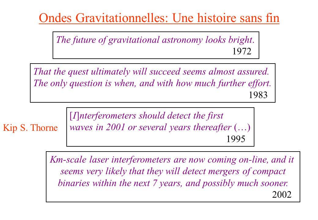 Ondes Gravitationnelles: Une histoire sans fin