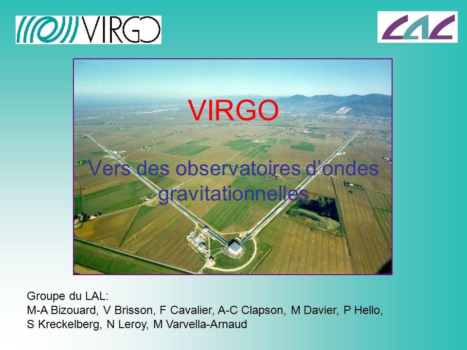 Vers des observatoires d'ondes gravitationnelles