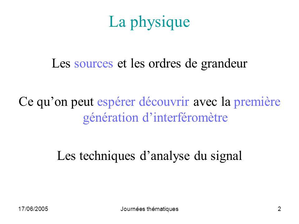 La physique Les sources et les ordres de grandeur