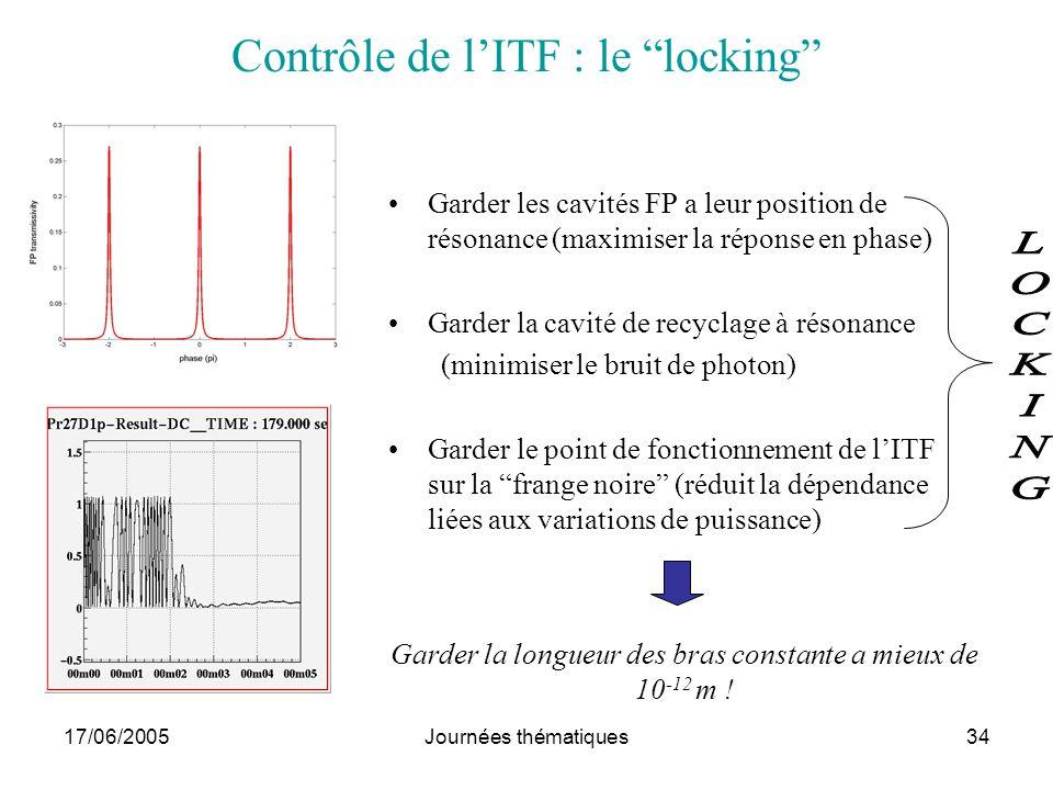 Contrôle de l'ITF : le locking