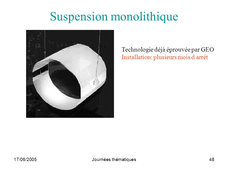 Suspension monolithique