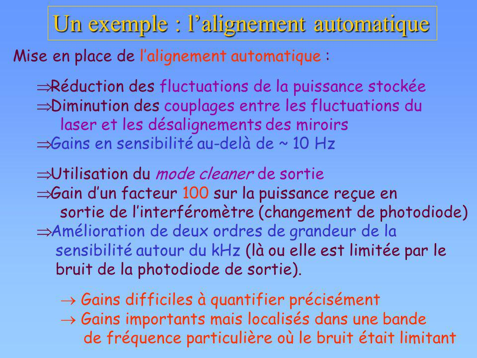 Un exemple : l'alignement automatique