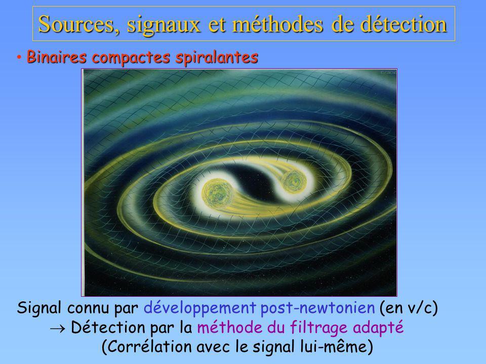 Sources, signaux et méthodes de détection