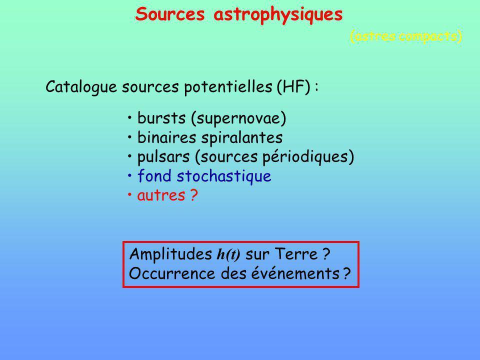 Sources astrophysiques