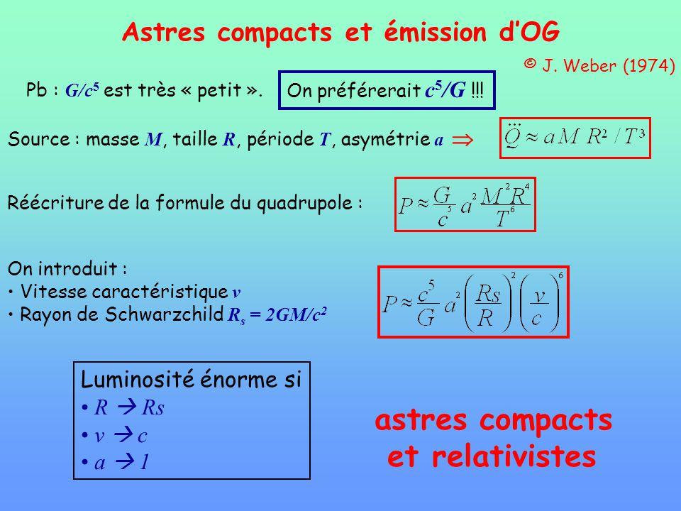 astres compacts et relativistes Astres compacts et émission d'OG
