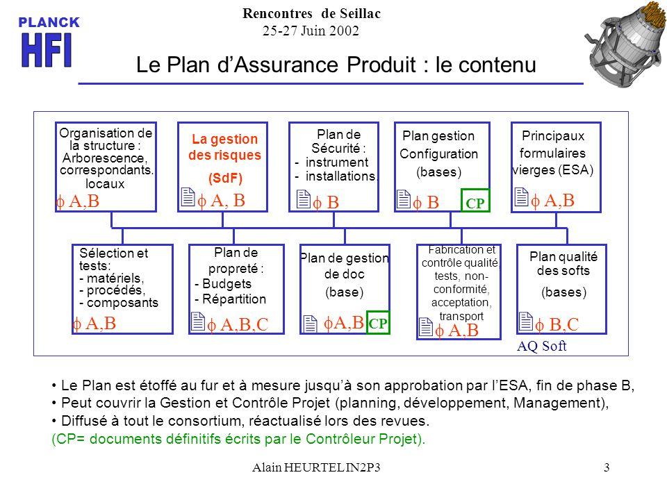 Le Plan d'Assurance Produit : le contenu