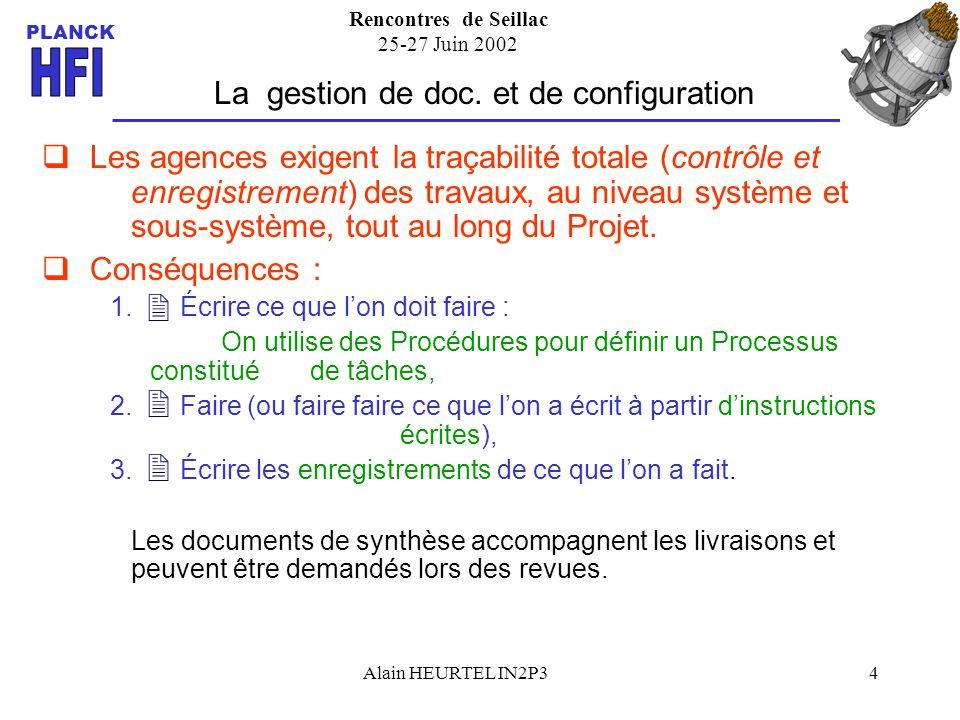 La gestion de doc. et de configuration