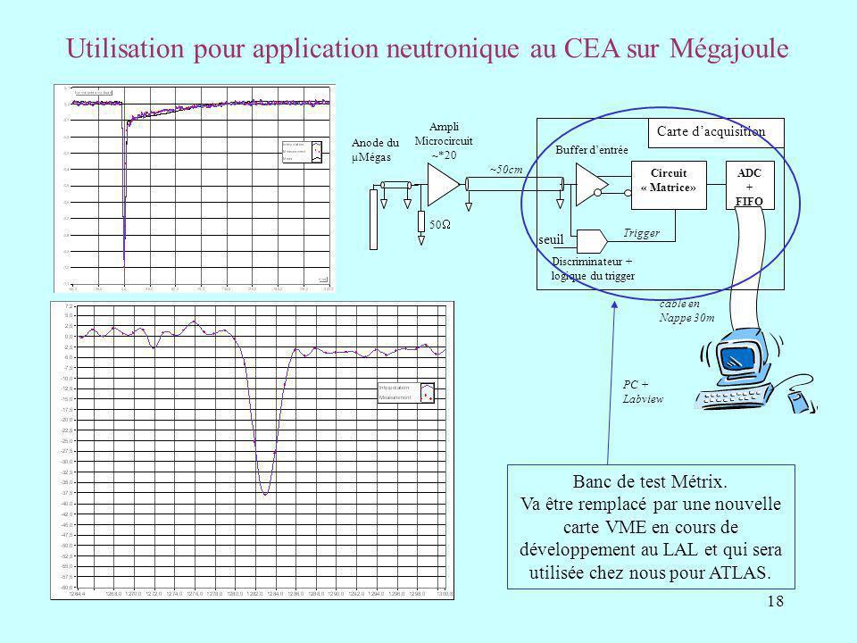 Utilisation pour application neutronique au CEA sur Mégajoule