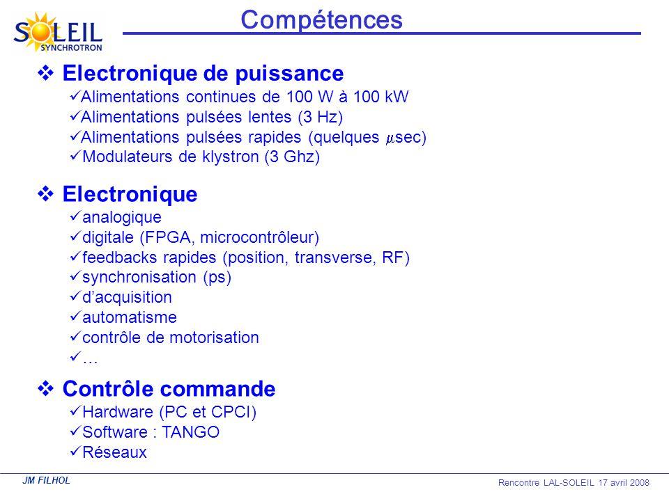 Compétences Electronique de puissance Electronique Contrôle commande