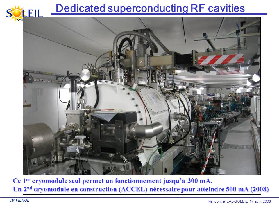 Dedicated superconducting RF cavities