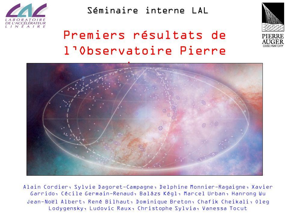 Premiers résultats de l'Observatoire Pierre Auger