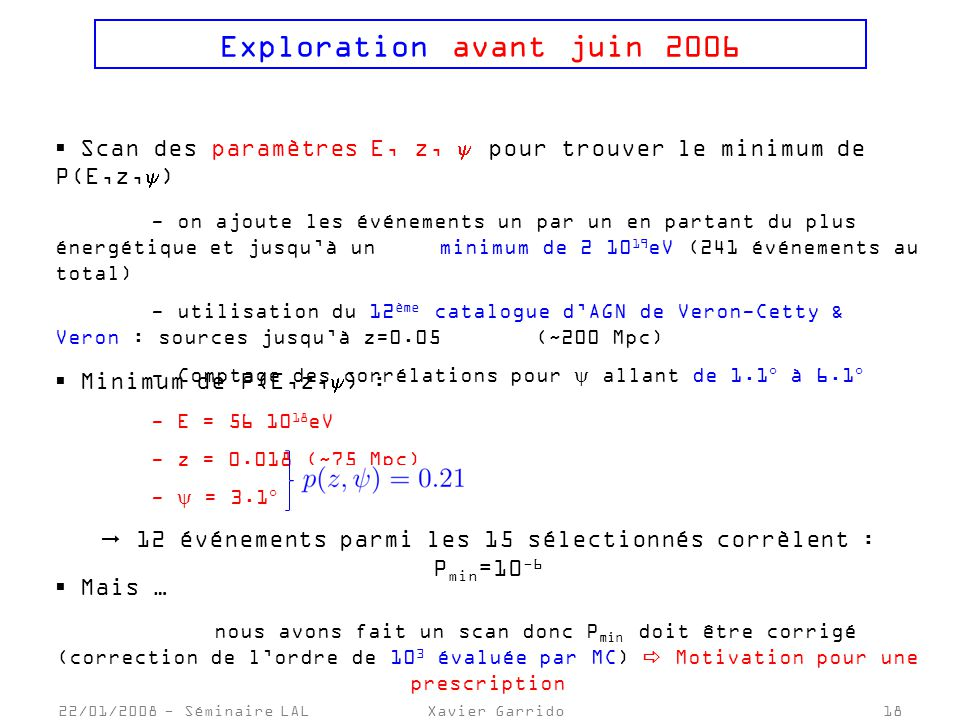 Exploration avant juin 2006