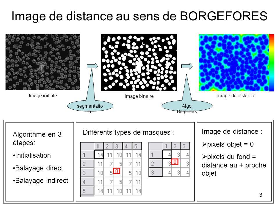 Image de distance au sens de BORGEFORES