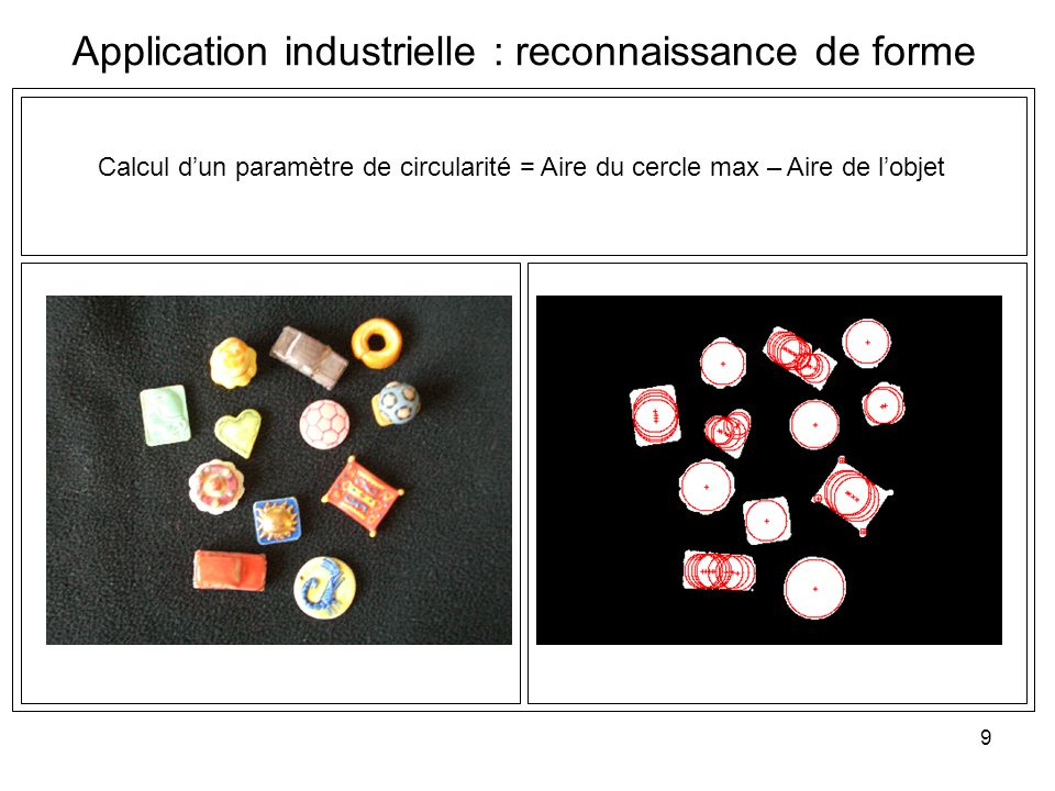 Application industrielle : reconnaissance de forme