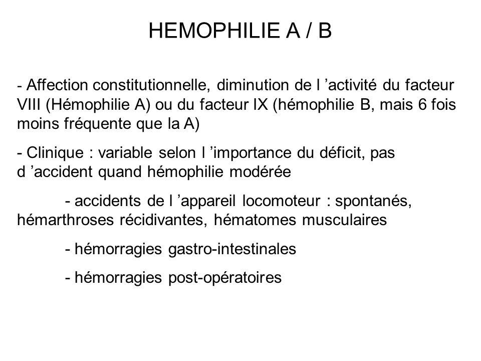 HEMOPHILIE A / B