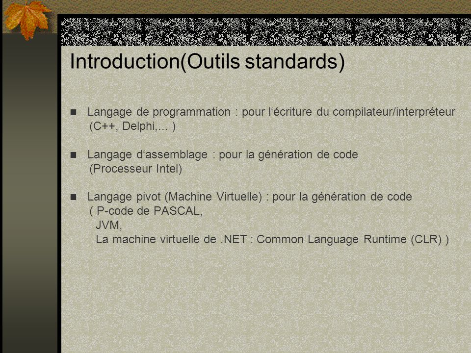 Introduction(Outils standards)