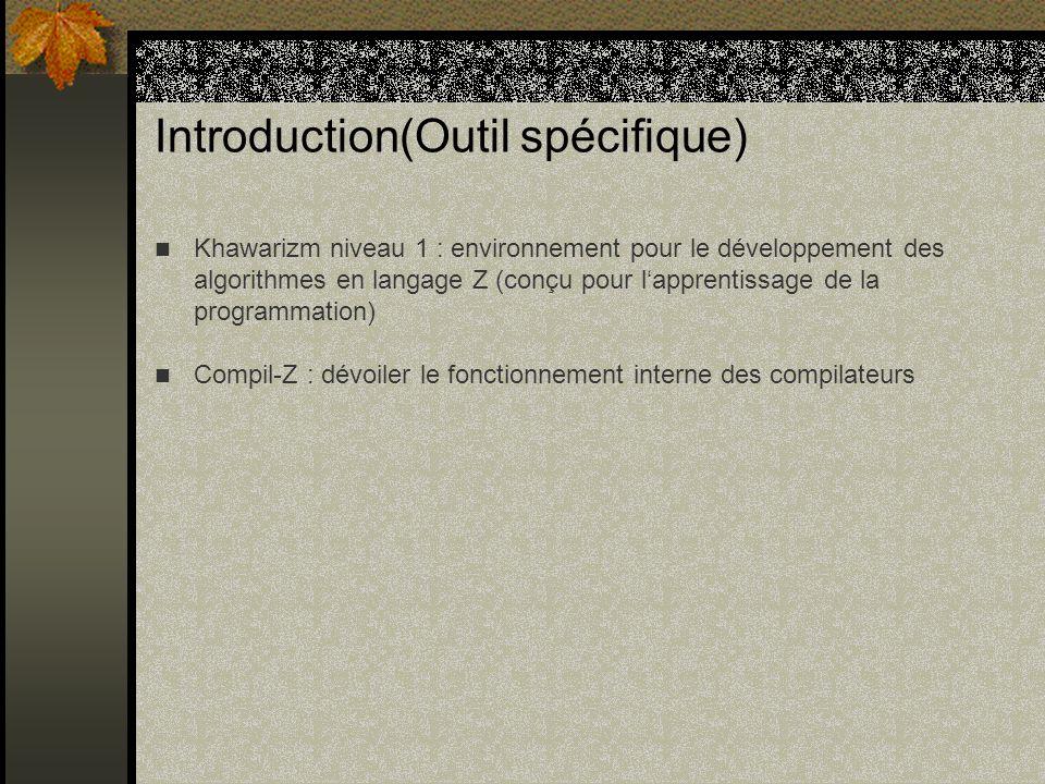 Introduction(Outil spécifique)