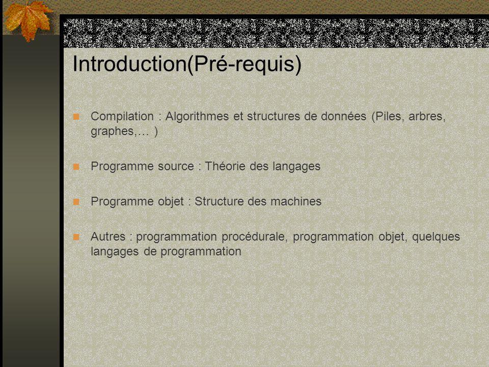 Introduction(Pré-requis)