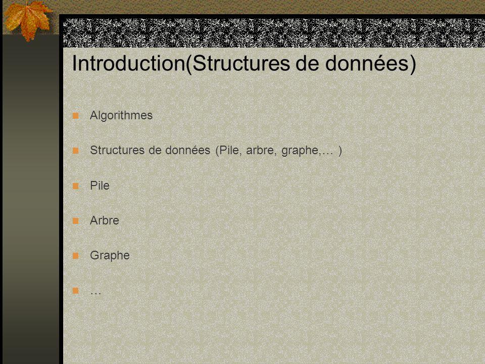 Introduction(Structures de données)