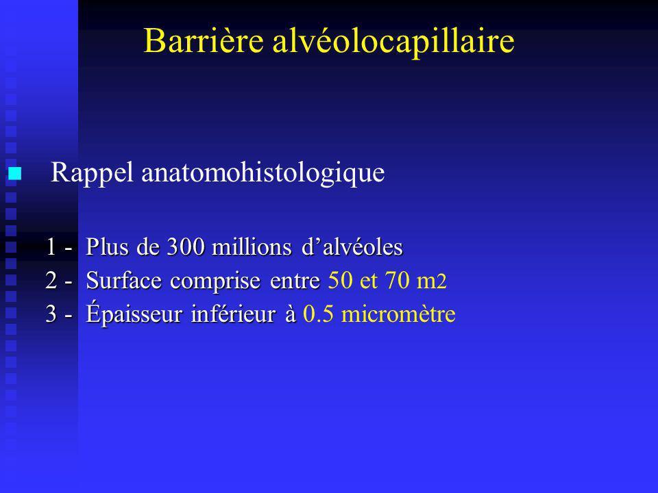 Barrière alvéolocapillaire