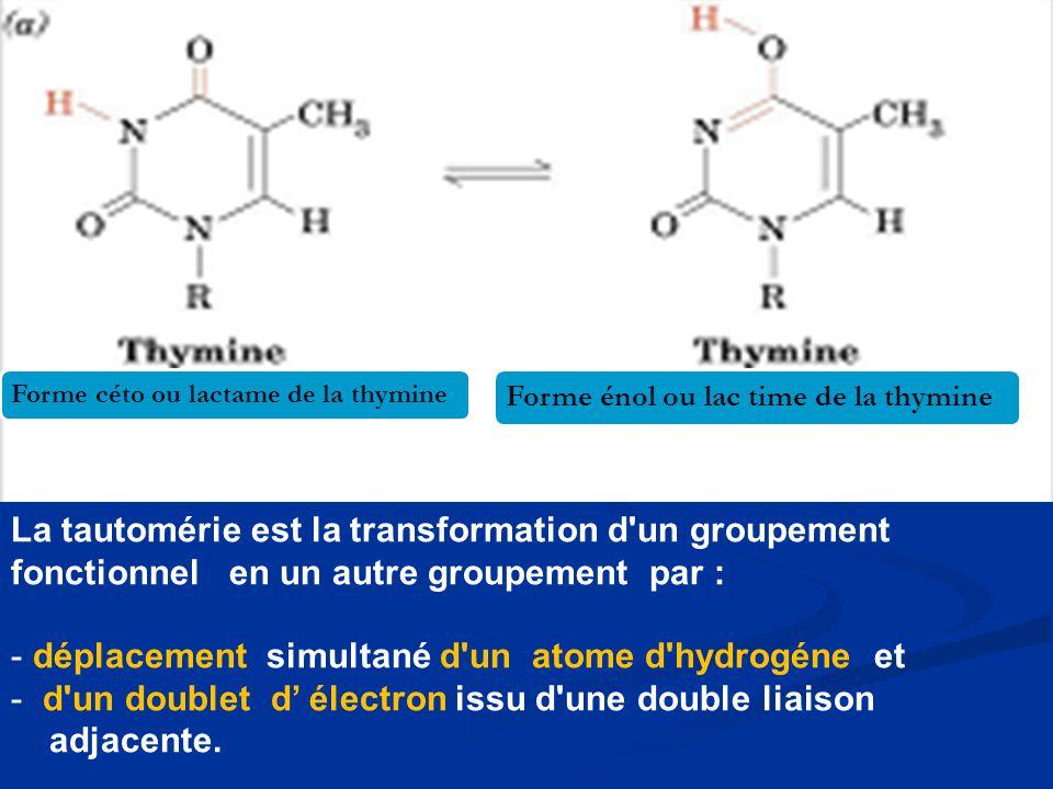 déplacement simultané d un atome d hydrogéne et