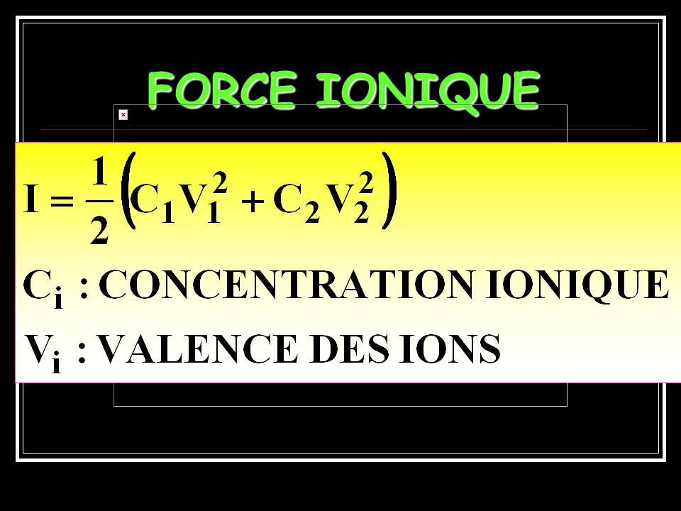 FORCE IONIQUE