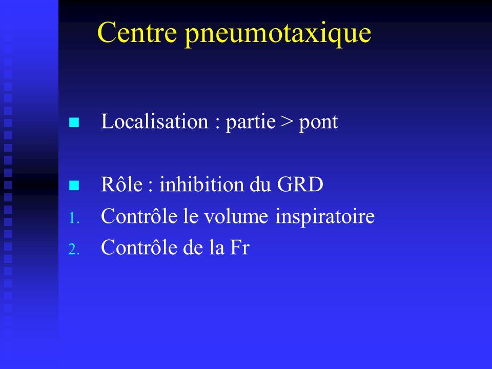 Centre pneumotaxique Localisation : partie > pont