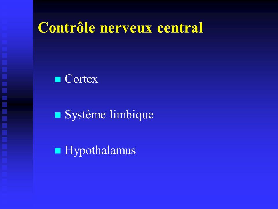 Contrôle nerveux central