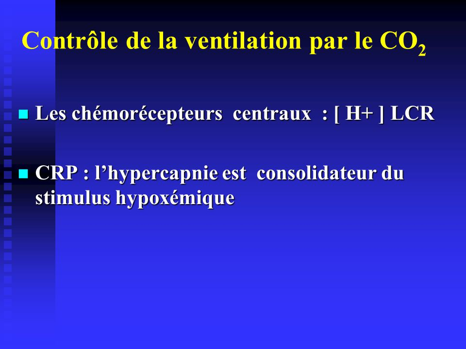 Contrôle de la ventilation par le CO2