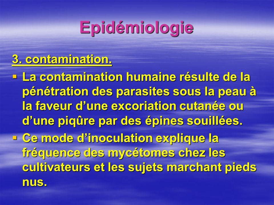 Epidémiologie 3. contamination.