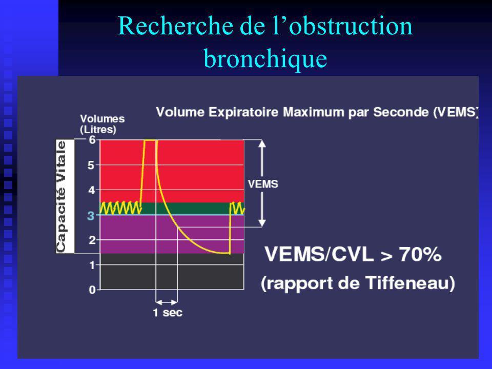 Recherche de l'obstruction bronchique