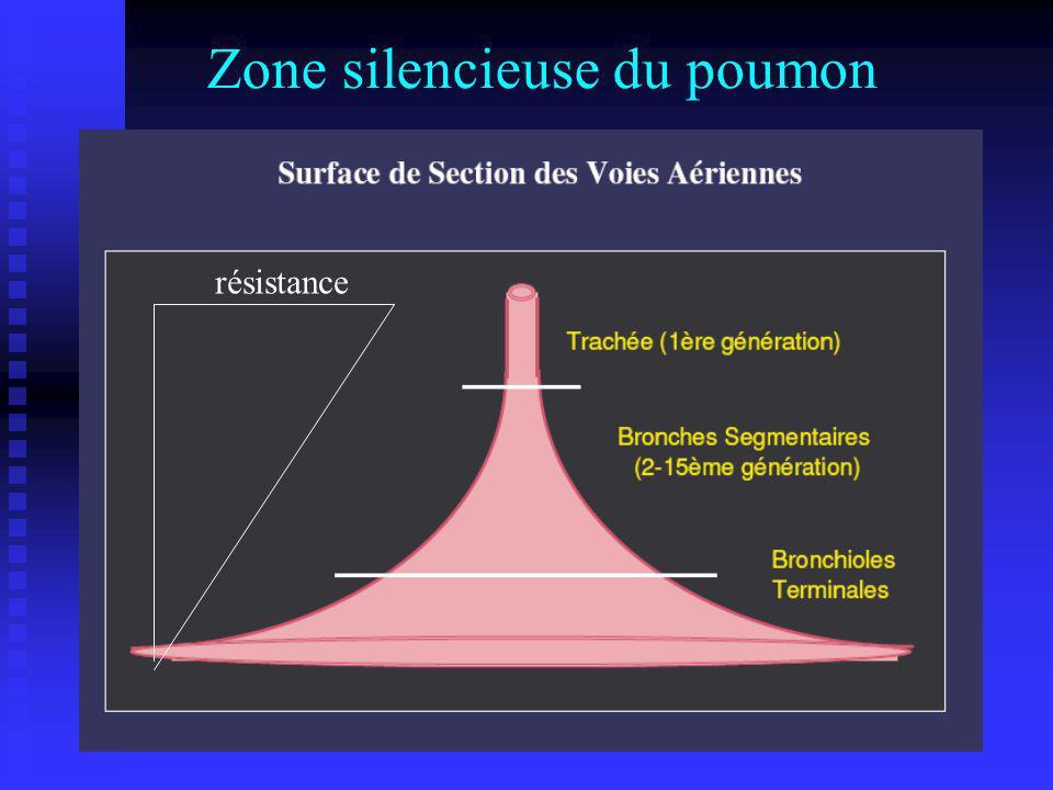 Zone silencieuse du poumon