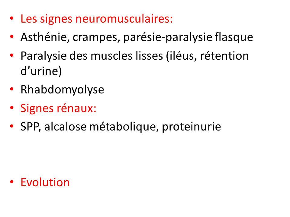 Les signes neuromusculaires: