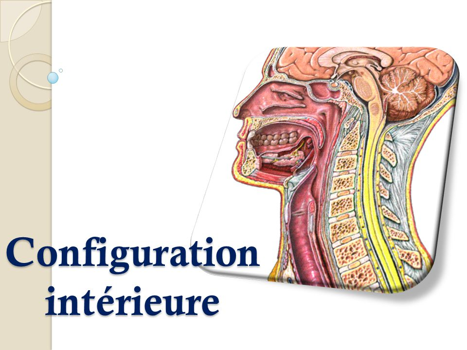 Configuration intérieure