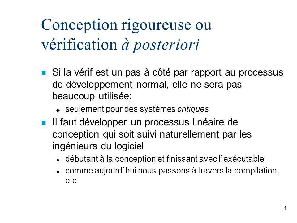 Conception rigoureuse ou vérification à posteriori
