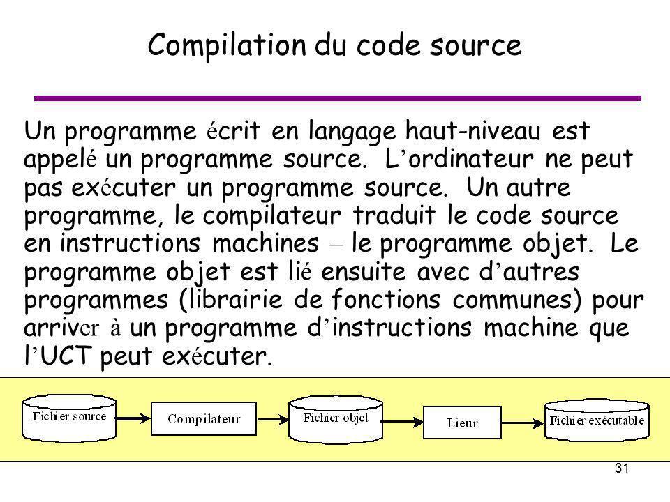 Compilation du code source