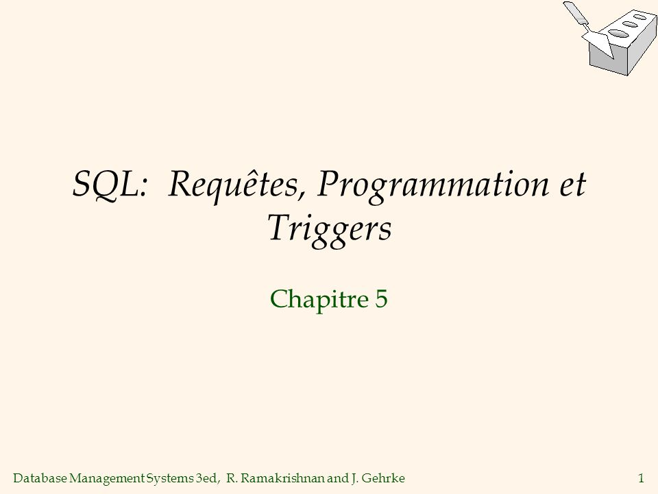 SQL: Requêtes, Programmation et Triggers