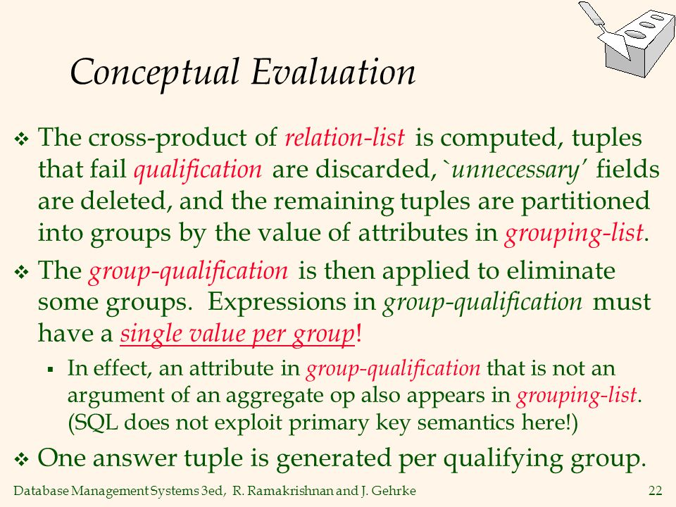 Conceptual Evaluation