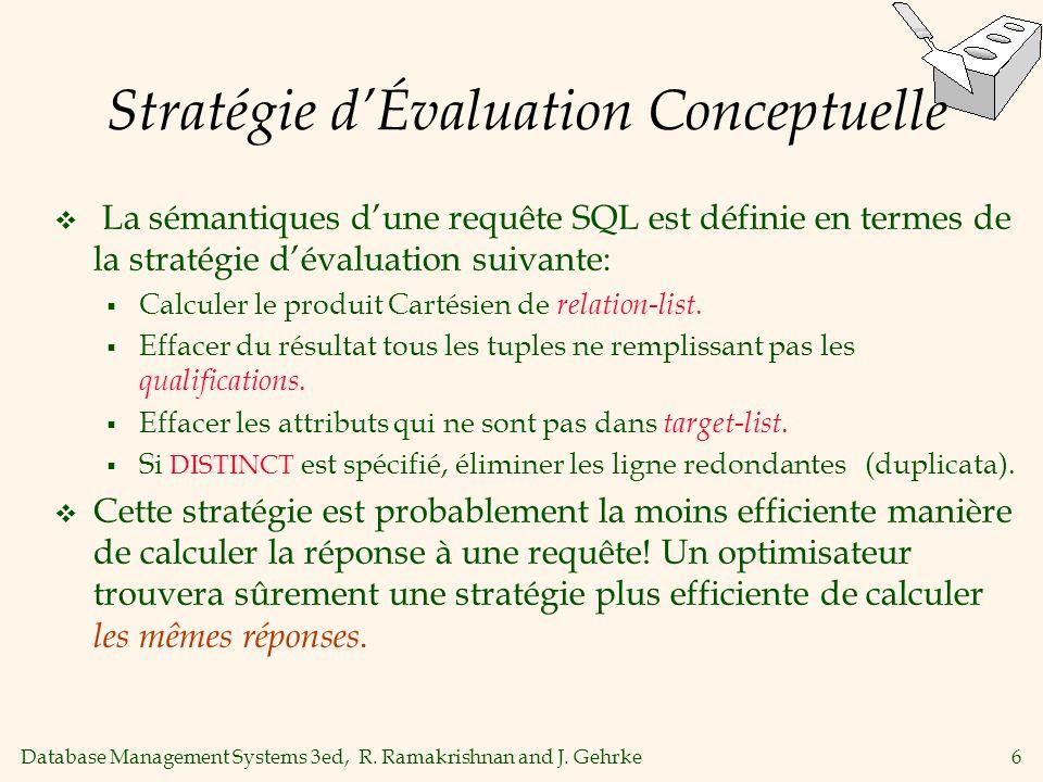 Stratégie d'Évaluation Conceptuelle